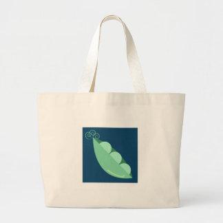 Guisantes en una vaina bolsas de mano