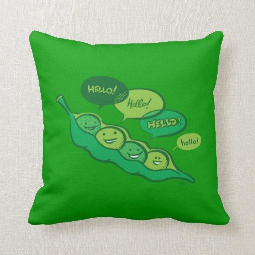 Guisantes en una vaina (hola) almohada