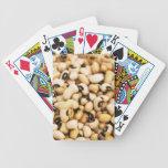 Guisantes observados ennegrecidos baraja cartas de poker