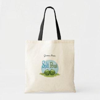 Guisantes partidos - veggies gemelos bolsa de mano