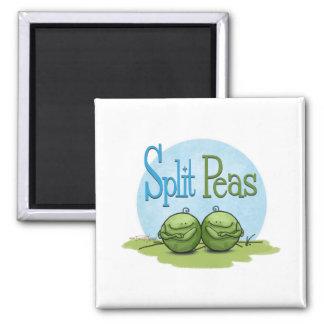 Guisantes partidos - veggies gemelos imán de nevera