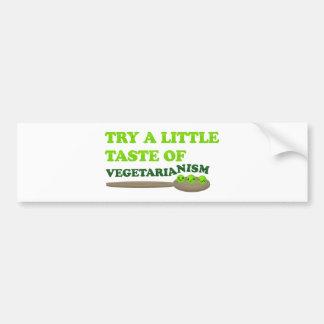 Guisantes vegetarianos etiqueta de parachoque