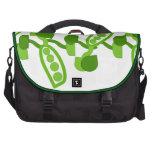 Guisantes verdes bolsas para portátil