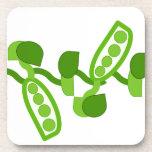 Guisantes verdes posavasos de bebidas