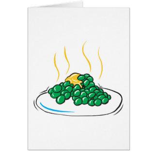 guisantes y mantequilla tarjeta de felicitación