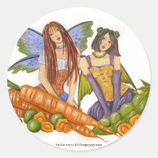 Guisantes y pegatina de las zanahorias