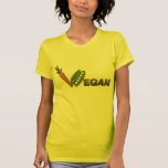 Guisantes y zanahorias del vegano camiseta