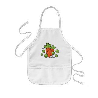 Guisantes y zanahorias delantal