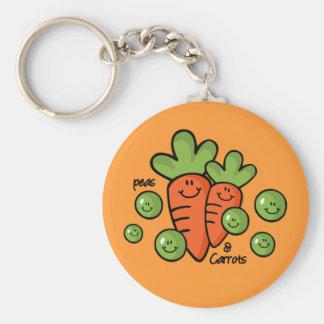 Guisantes y zanahorias llavero