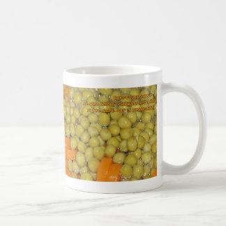 Guisantes y zanahorias taza