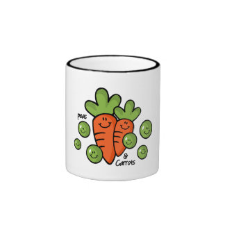Guisantes y zanahorias taza de dos colores