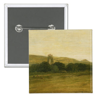 Guisborough Priory, c.1801-02 (oil on canvas) Pinback Button
