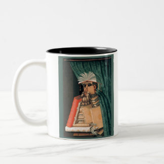 Guiseppe Arcimboldo - The Librarian Two-Tone Coffee Mug