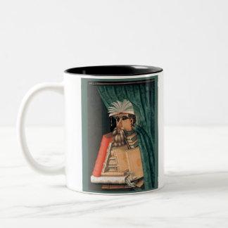 Guiseppe Arcimboldo - The Librarian Two-Tone Coffee Mug