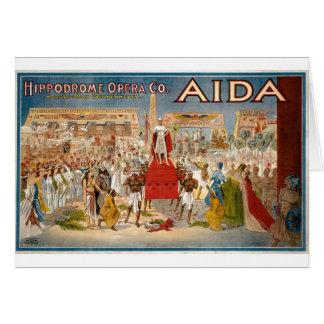 Guiseppe Verdi Aida 1908 Hippodrome Card