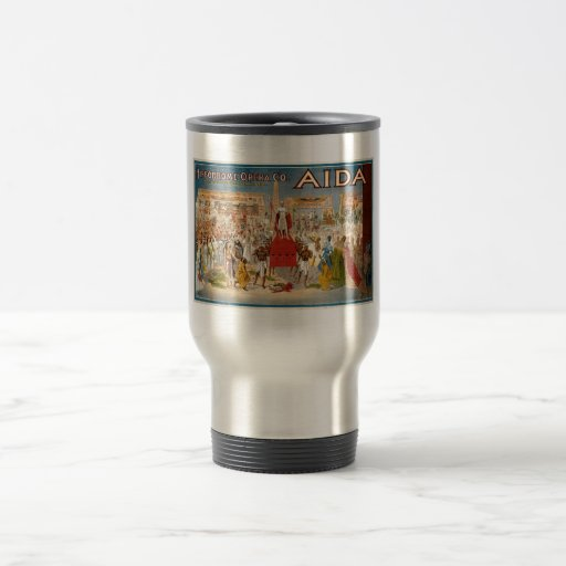Guiseppe Verdi Aida 1908 Hippodrome 15 Oz Stainless Steel Travel Mug