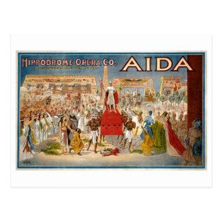 Guiseppe Verdi Aida 1908 Hippodrome Postcard