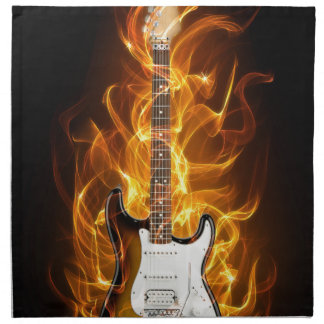 Guitair Flames Napkin