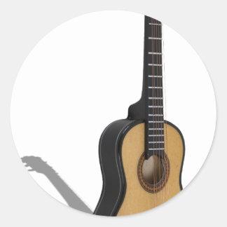 Guitar081210 Pegatina Redonda