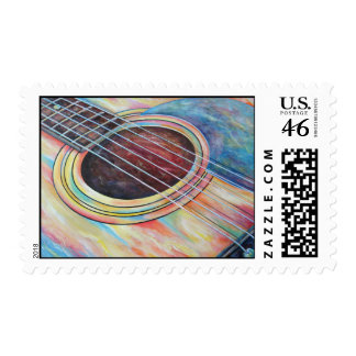 Guitar 2 postage stamps