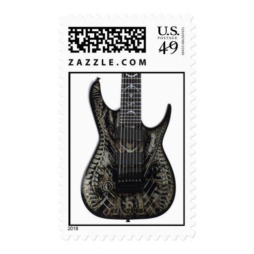 guitar 31 stamp