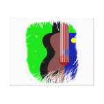 guitar abstract blob.png stretched canvas print