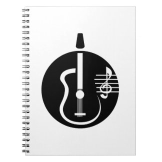 guitar abstract cutout with notes.png spiral notebook