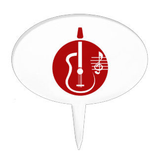 guitar abstract cutout with notes red.png cake topper