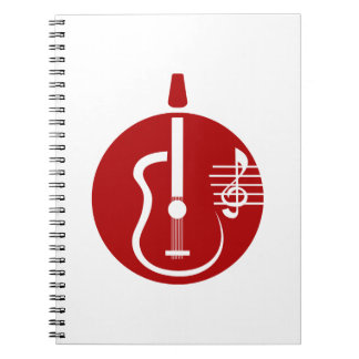 guitar abstract cutout with notes red.png notebook