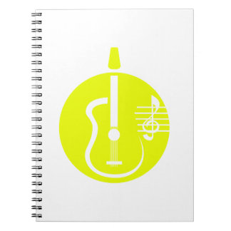 guitar abstract cutout with notes yellow.png notebook