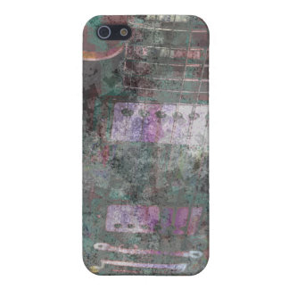 guitar abstract darker colors grunged cases for iPhone 5