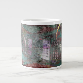 guitar abstract darker colors grunged extra large mugs