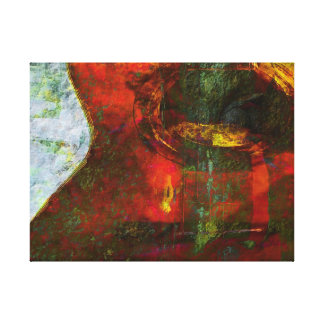 Guitar abstract gallery wrap canvas