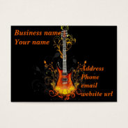 Guitar Abstract On Black Business Card at Zazzle