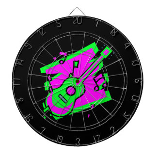 guitar abstract scribble back pink green.png dartboard with darts