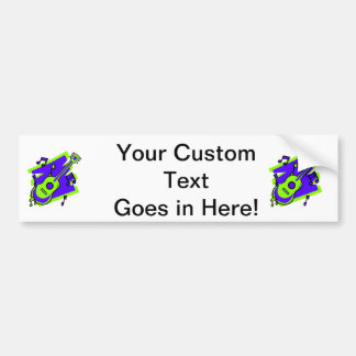 guitar abstract scribble back purple green.png bumper sticker