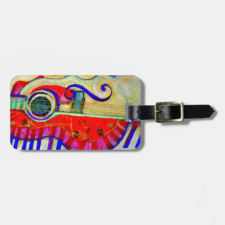 Guitar Abstracted Art by Sharles Luggage Tags