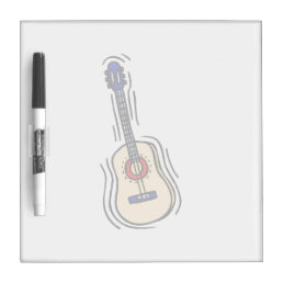 guitar acoustic simple red blue.png dry erase board