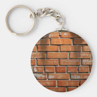 Guitar Against Brick Wall Keychain