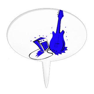 guitar,amp,cable,eletric+guitar,guitar+design,blue cake topper