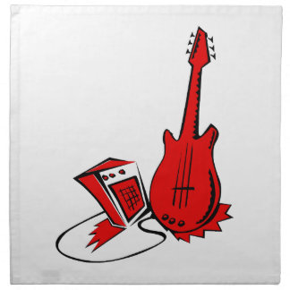 guitar amp stylized red.png cloth napkin