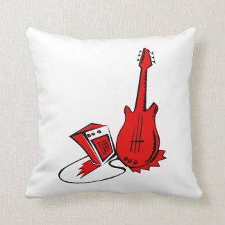 guitar amp stylized red.png throw pillow