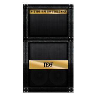 Guitar amp with custom name Double-Sided standard business cards (Pack of 100)