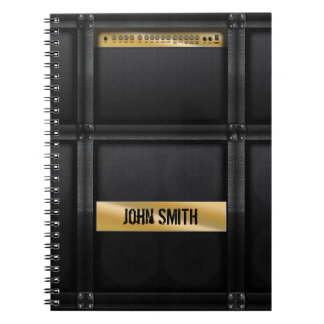 Guitar amp with custom name spiral notebook