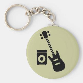 Guitar/Amplifier Basic Round Button Keychain