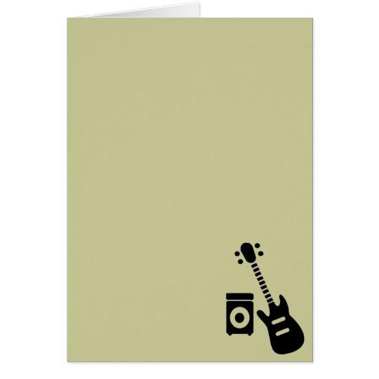 Guitar/Amplifier Card