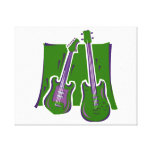 guitar and bass stylized green.png gallery wrap canvas