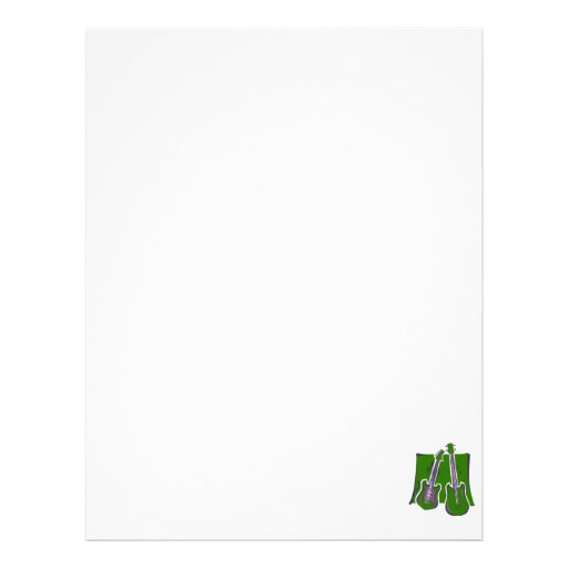 guitar and bass stylized green.png custom letterhead