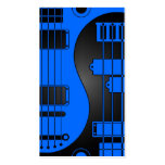 Guitar and Bass Yin Yang Blue and Black Double-Sided Standard Business Cards (Pack Of 100)