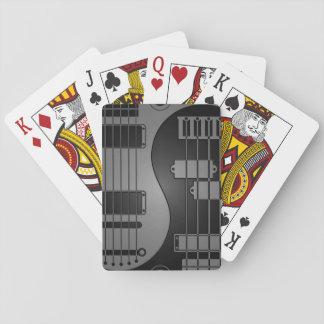 Guitar and Bass Yin Yang Gray and Black Poker Cards